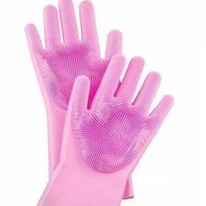 High Quality Silicone Dish Washing Kitchen Hand Gloves 1 Pair